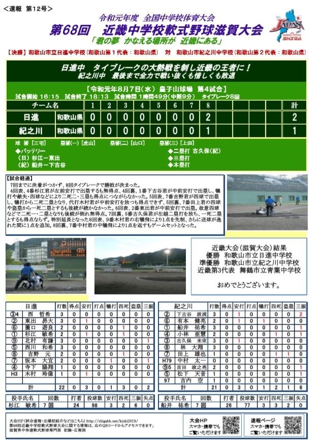 41 回 中学校 大会 軟式 全国 第 野球